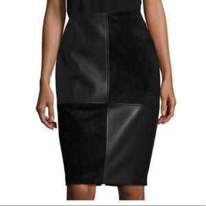 NWT Ivanka Trump wonderland leather suede skirt 8